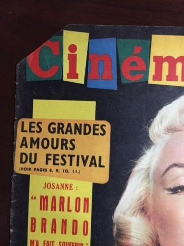 "1960, Marilyn Monroe, ""Cinemonde"" Oversize Magazine (Scarce)"