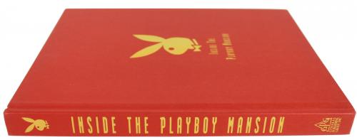 Hugh Hefner Playboy Signed Inside The Playboy Mansion Hardcover Book BAS #A10881