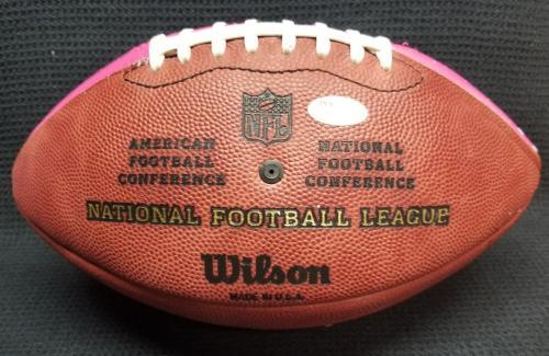 HUGH HEFNER Signed Autographed PlayBoy Painted Wilson Football. JSA