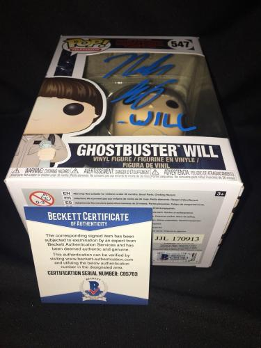 Noah Schnapp Signed Official Ghostbuster Will Funko Pop Vinyl Figure Beckett #2