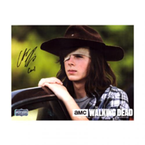 "Chandler Riggs ""Carl Grimes"" Signed The Walking Dead 8×10 Photo – Daytime"