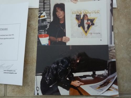 Alice Cooper Nightmare Signed Auto'd 54/690 Lithograph Poster Beckett Certified