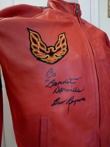 Burt Reynolds Signed Smokey Bandit Real Leather Jacket W Inscription Bas Cert