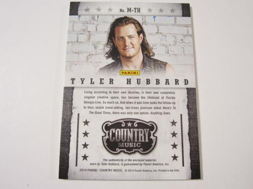 TYLER HUBBARD 2014 Panini Country Music Musician Materials Relic Card 404/449