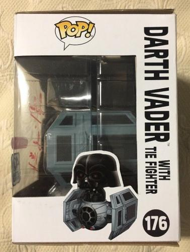 Dave Prowse Signed Autographed Darth Vader Tie Fighter Funko Pop BECKETT COA