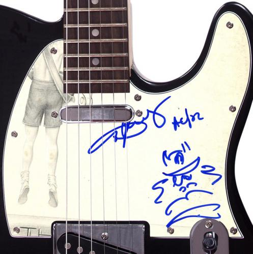 AC/DC Angus Young Signed Flick The Switch Album LP Guitar w Art Sketch