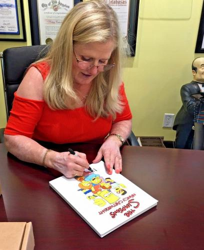 NANCY CARTWRIGHT Dual Signed The Simpsons Original Art Raymond S Persi BAS COA 6