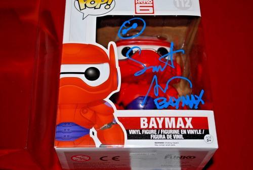 SCOTT ADSIT big hero 6 baymax signed 6 inch funko pop beckett BAS COA 2