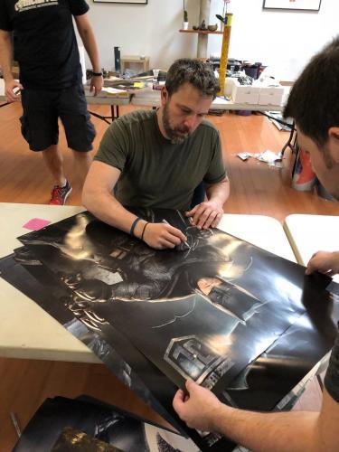 BEN AFFLECK Signed BATMAN V SUPERMAN AUTO Dawn of Justice 36X24 Poster BAS COA D