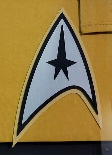 William Shatner Autographed Signed Gold Uniform Framed Star Trek Beckett