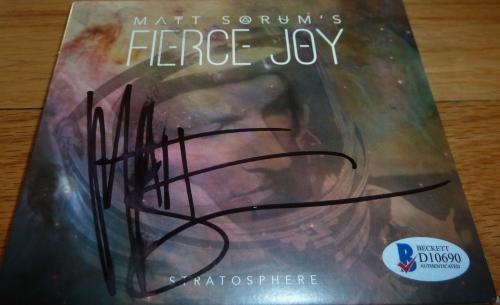 Beckett-bas Guns N' Roses Matt Sorum Fierce Joy Autographed-signed Cd D10690
