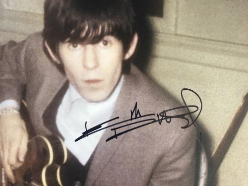 Rolling Stones Keith Richards Signed 16x20 Color Photo Legend Bas Coa #a02094