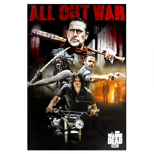 Norman Reedus & Jeffrey Dean Morgan Signed The Walking Dead Poster – All Out War