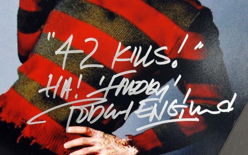 "Robert Englund Nightmare Elm St ""42 Kills Freddy"" Signed 16x20 Photo BAS #I64411"