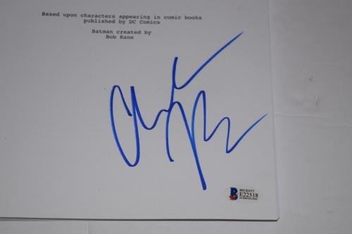 Christian Bale Signed Autographed THE DARK KNIGHT RISES Movie Script BAS COA