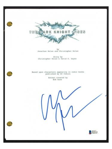 Christian Bale Signed Autographed THE DARK KNIGHT RISES Movie Script BAS COA