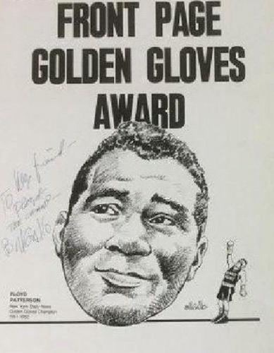 2 Daily News  Posters  Signed by Bill Gallo To Floyd Patterson, Patterson Estate