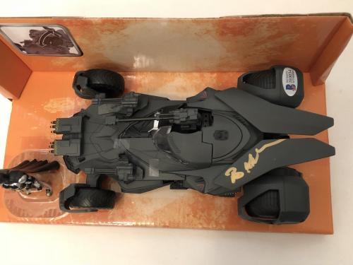 Ben Affleck Signed Metals Die-Cast Justice League Batmobile & Batman Figure BAS