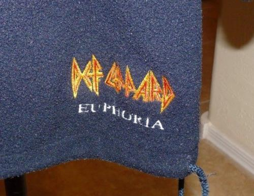 Def Leppard Euphoria 2009 Tour REAL Crew Issued Blue Zip Fleece Pullover Jacket