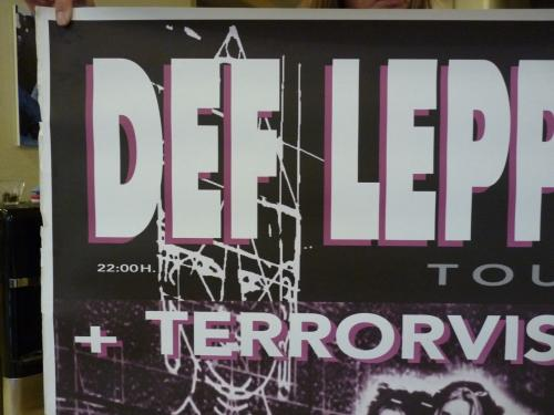 Def Leppard Huge 36x51 Oct 26 1996 Spain Slang Tour Concert Poster 100% Real