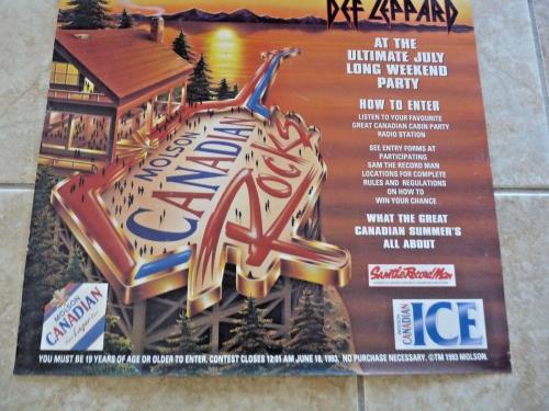 Def Leppard 19x27 Molson 1993 Contest Winner Concert Poster 100% Real RARE