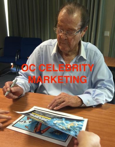 ROGER MOORE Signed JAMES BOND 007 OCTOPUSSY Original Lobby Card PSA/DNA COA D