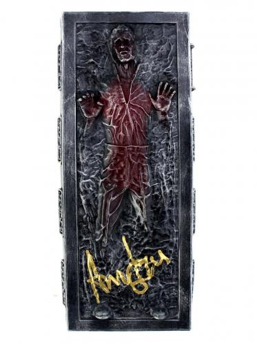Harrison Ford Signed Star Wars The Empire Strikes Back Han Solo Encased in Carbonite Transparent Red Figure