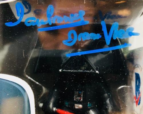 David Prowse Autographed Darth Vader Funko Pop Star Wars - BAS Beckett Witness