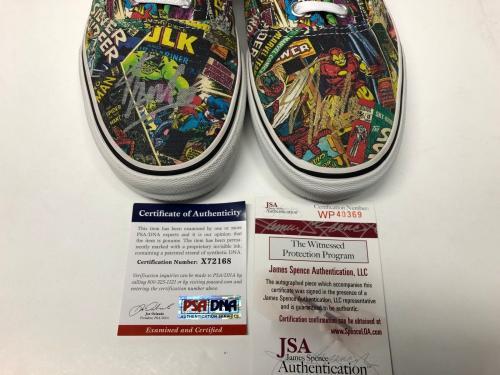 Stan Lee Signed Marvel Comic Book Vans Sneakers Skate Shoes PSA JSA
