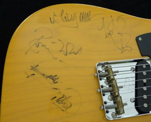 Rolling Stones Jagger Richards Woods & Watts Signed Guitar BAS REAL Certified