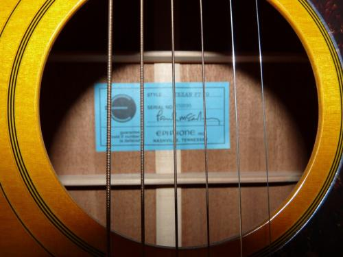 Paul McCartney Beatles 1964 Epiphone Texan Body Signed Guitar BAS REAL Certified
