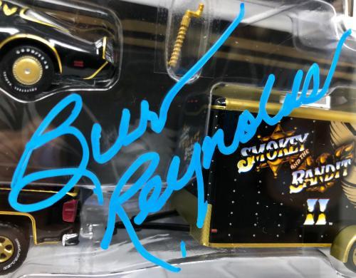 Burt Reynolds Signed Smokey and the Bandit Die Cast Set - Beckett BAS Witnessed