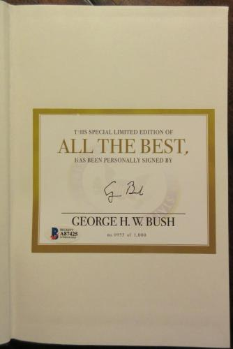 President George H.W. Bush Signed Book - Beckett BAS