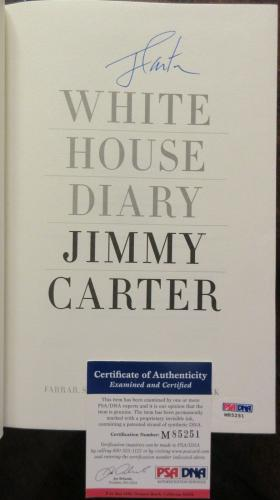 President Jimmy Carter Signed Book - White House Diary - PSA DNA