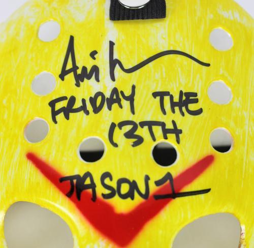 "Ari Lehman ""Friday The 13th! Jason 1"" Signed Yellow Jason Mask BAS"