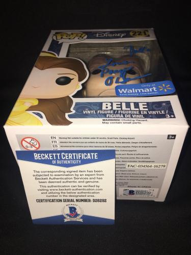 Paige O'Hara Signed Official Belle Funko Pop Vinyl Figure Disney Princes Beckett