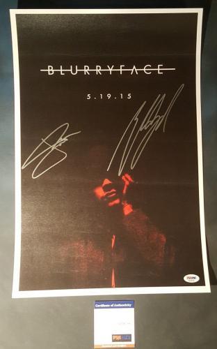 21 Twenty One Pilots Josh Dun Tyler Joseph Signed Autographed Poster PSA/DNA COA