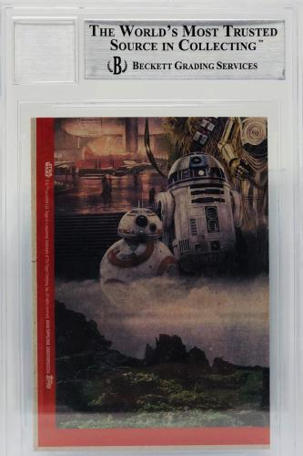 Daisy Ridley Signed Star Wars The Last Jedi Topps Rey - Beckett BAS Grade 10 #91