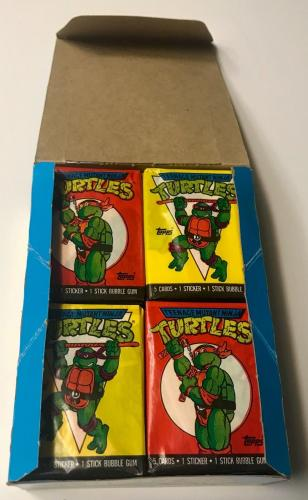 Teenage Mutant NINJA TURTLES Cartoon Cast Signed x8 Topps Series 1 Box BAS COA