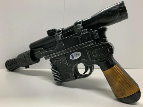 Harrison Ford Star Wars Autographed Blaster Gun BAS Beckett Witnessed Hans Solo