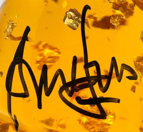 Harrison Ford Indiana Jones Autographed Amber Sankara Stone BAS Beckett Witness