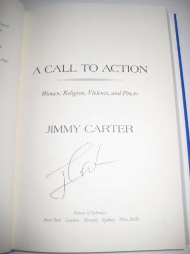 President JIMMY CARTER Signed A CALL TO ACTION Book w/ Beckett COA
