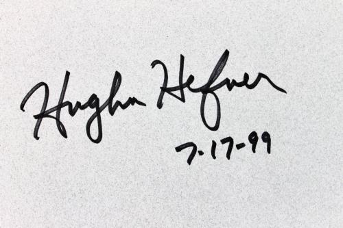 """Hugh Hefner """"7-17-99"""" Signed Inside The Playboy Mansion Book BAS #A11486"""