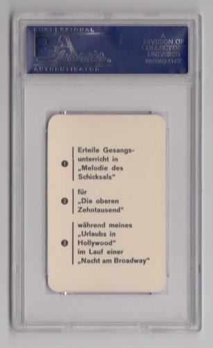 1956 Altenburg Film Stars Frank Sinatra Caricatures Card Psa 10 Gem Mint Pop 1