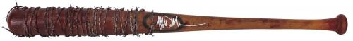 Jeffrey Dean Morgan The Walking Dead Signed Replica Lucille Prop Bat BAS Witness
