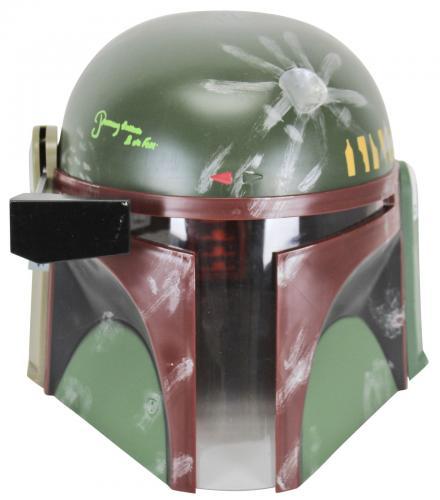 """Star Wars Jeremy Bulloch """"Boba Fett"""" Signed Deluxe Helmet Green Signature BAS"""
