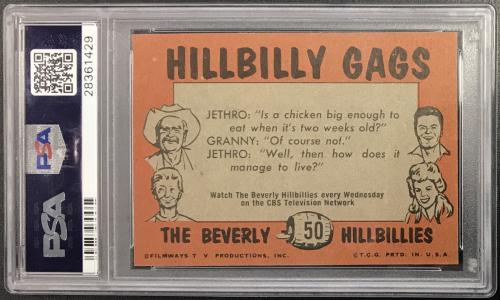 1963 Beverly Hillbillies We Can Always Throw Darts Card #50 Psa 8.5 Nm-mt+