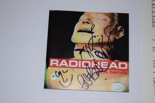 RADIOHEAD Signed Autographed THE BENDS CD Booklet Thom Yorke + 3 JSA LOA COA