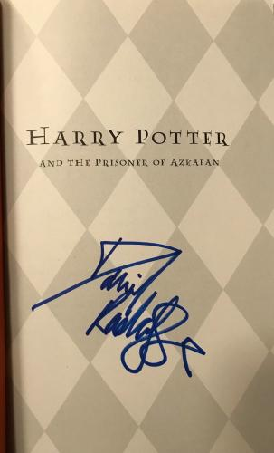 RARE-DANIEL RADCLIFF signed HARRY POTTER and The Prisoner of Azkaban