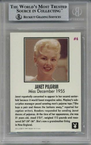 Janet Pilgrim Signed #6 Playboy Trading Card Playmate Encapsulated Beckett Bas